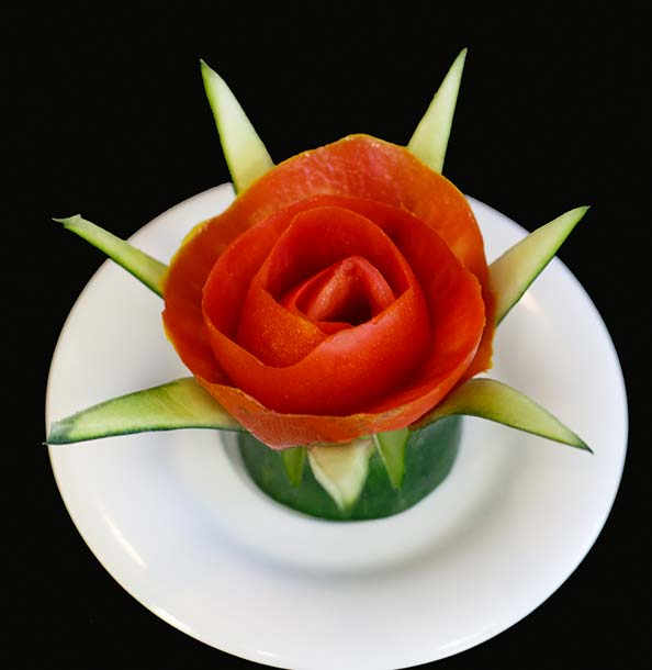 Tomatoe Rose Food Art